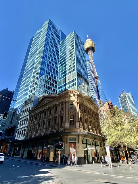 Sydney city, corner of King Street & Pitt street.