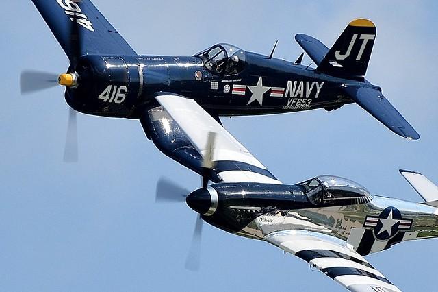 P-51D Mustang  NL51HY 124-48192 45-11439 Vought F4U-4 Corsair 97143 N713JT JT-416