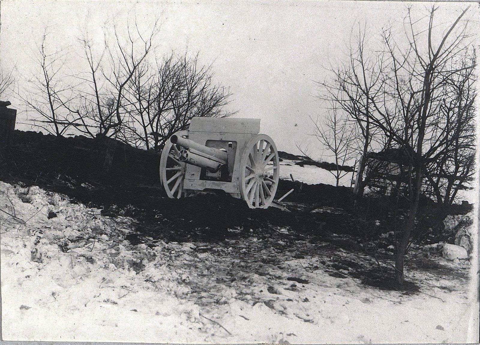 01. Первое орудие на позиции близ Н. Алексинца. 23 ноября 1915