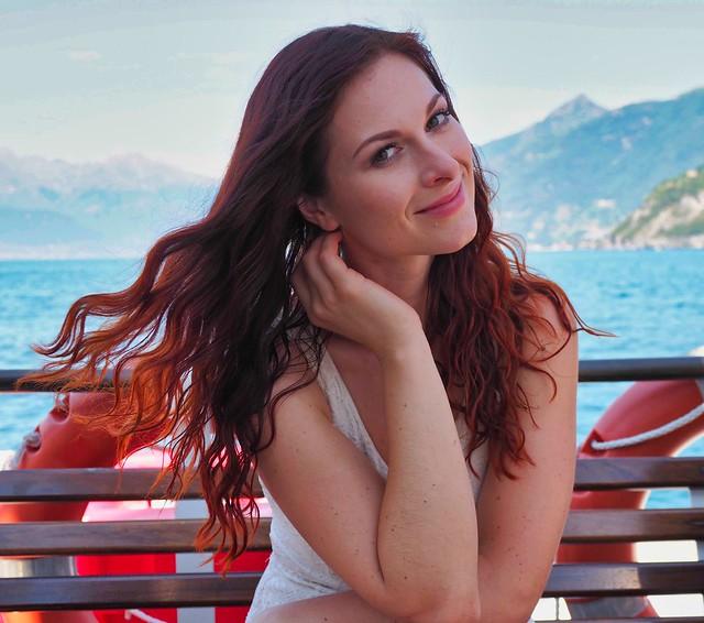 Ivana from Czechia - here on Lake Como, Italy