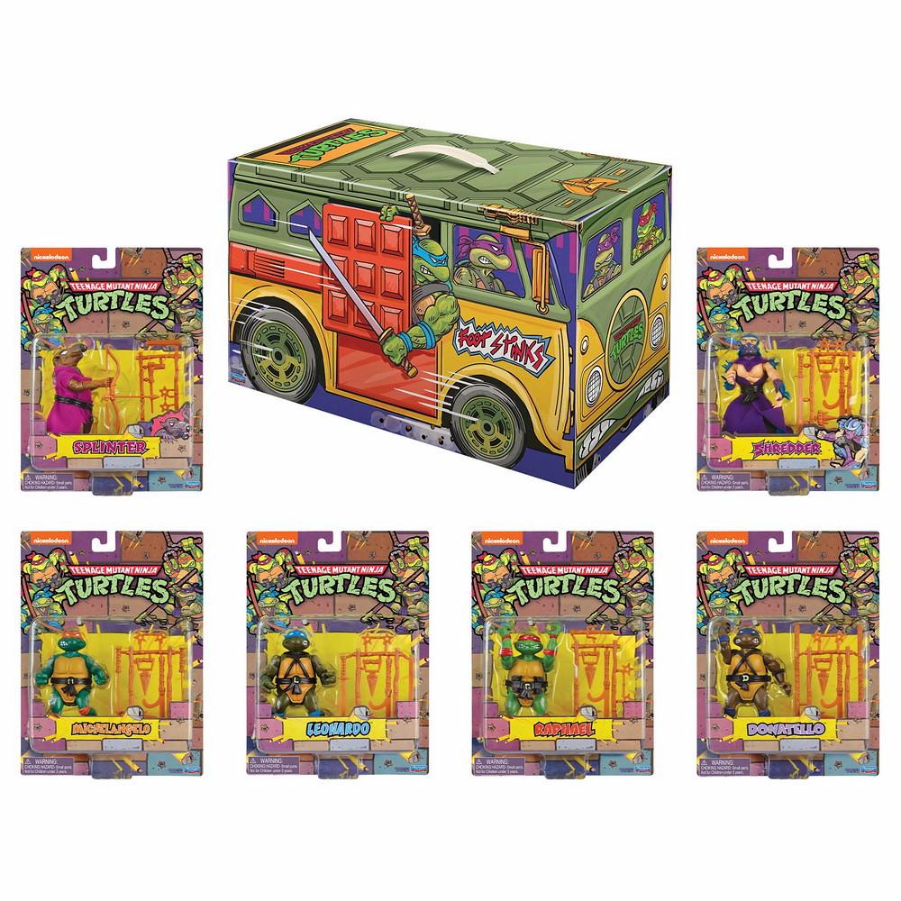 充滿回憶的元祖造型! Playmates Toys《忍者龜》忍者龜復古可動人偶 6 件套裝組 (TMNT Retro Rotocast 6-pc Action Figure Set)【2020 SDCC 限定】