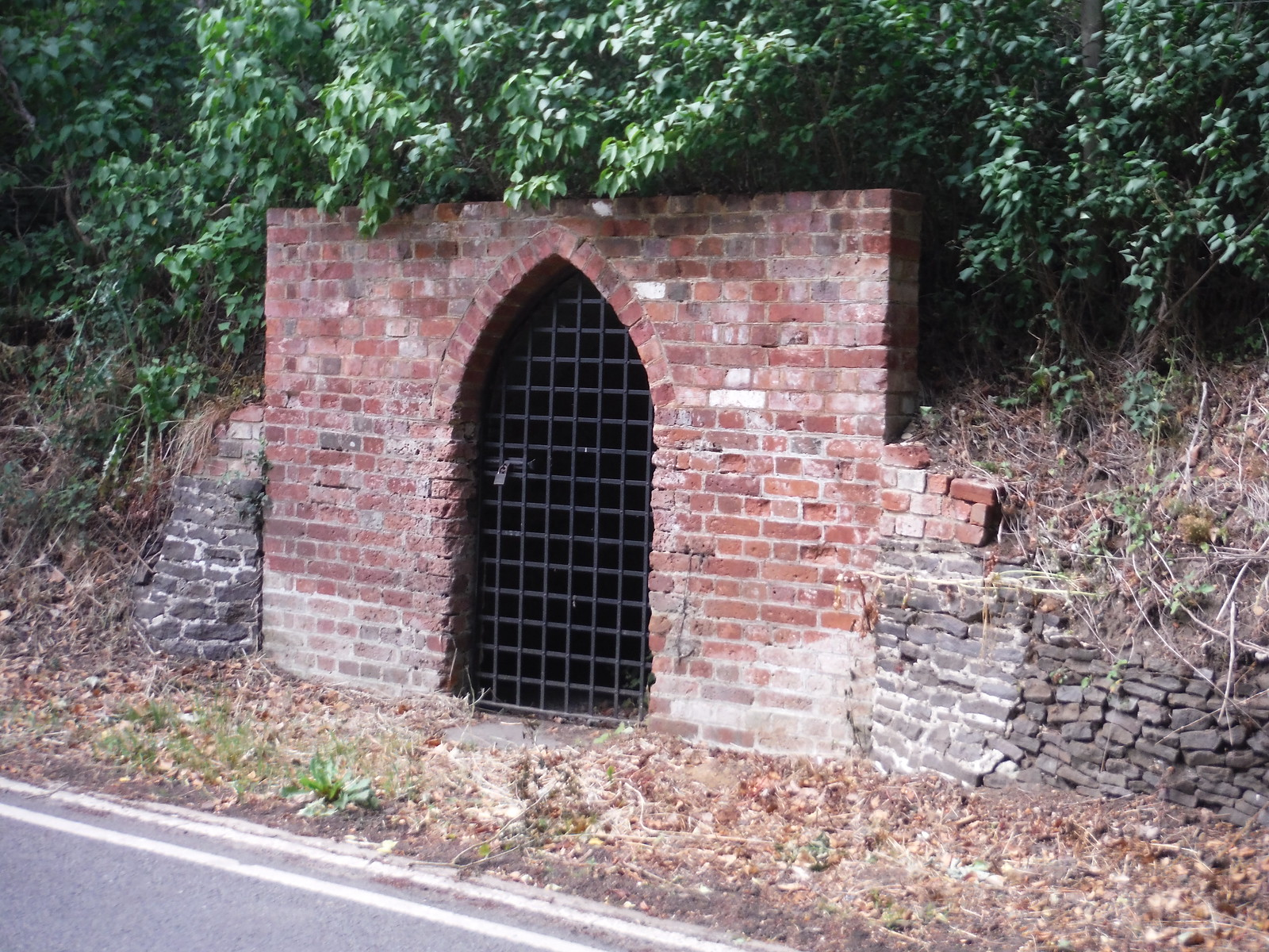 Mysterious Brick Storage Shelter, Tilford House SWC Walk 184 - Bentley to Farnham