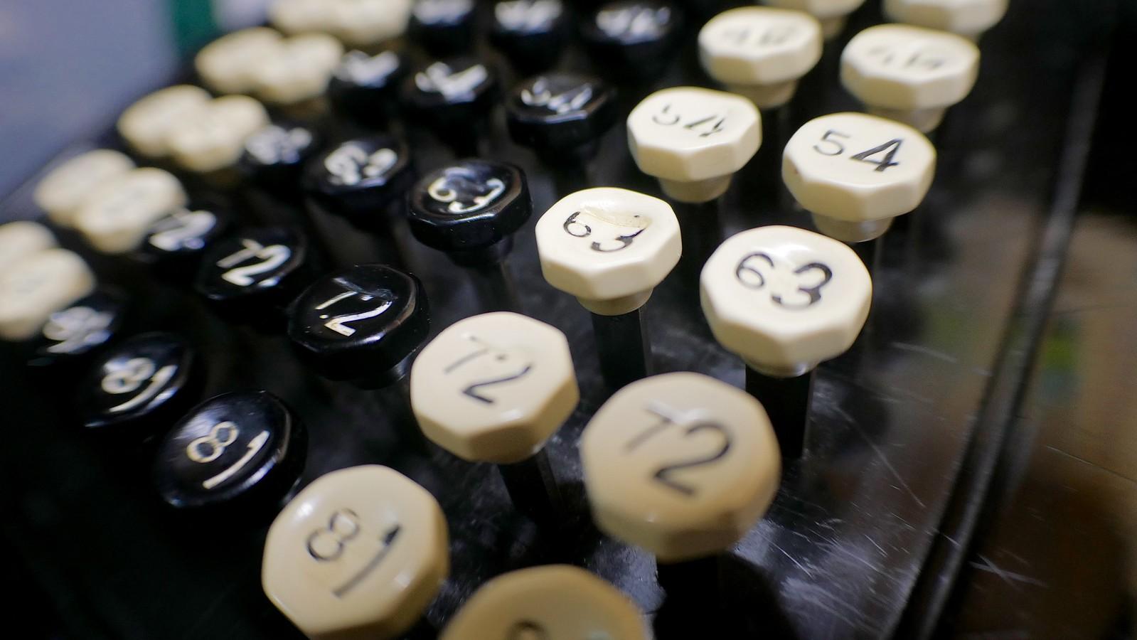 Burroughs Comptometer keyboard