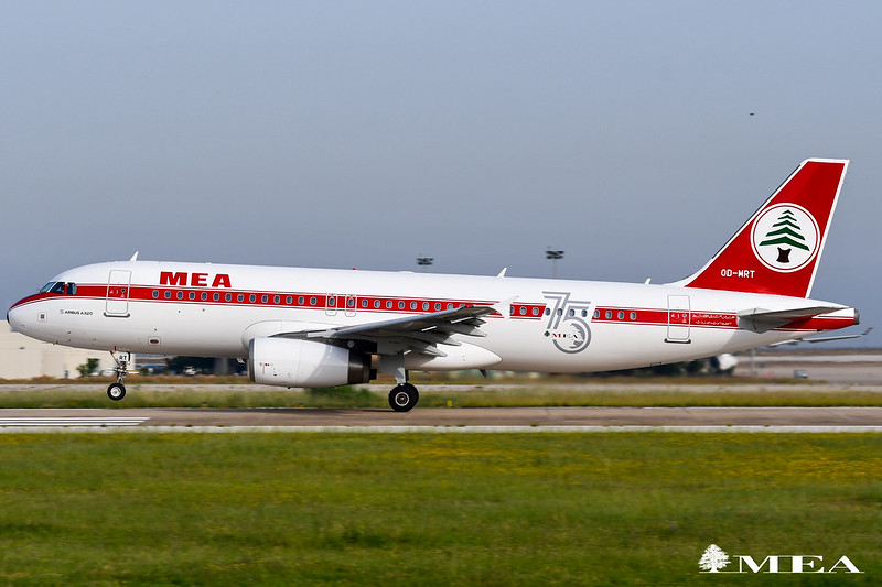 OD-MRT was repainted in an MEA B707 retro scheme dating back to 1967.