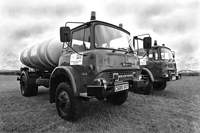 BEDFORD TM 4X4 WATER TANKERS CONVERTED BY THE WELL KNOWN FIRE APPLIANCE CONVERTERS SAXON