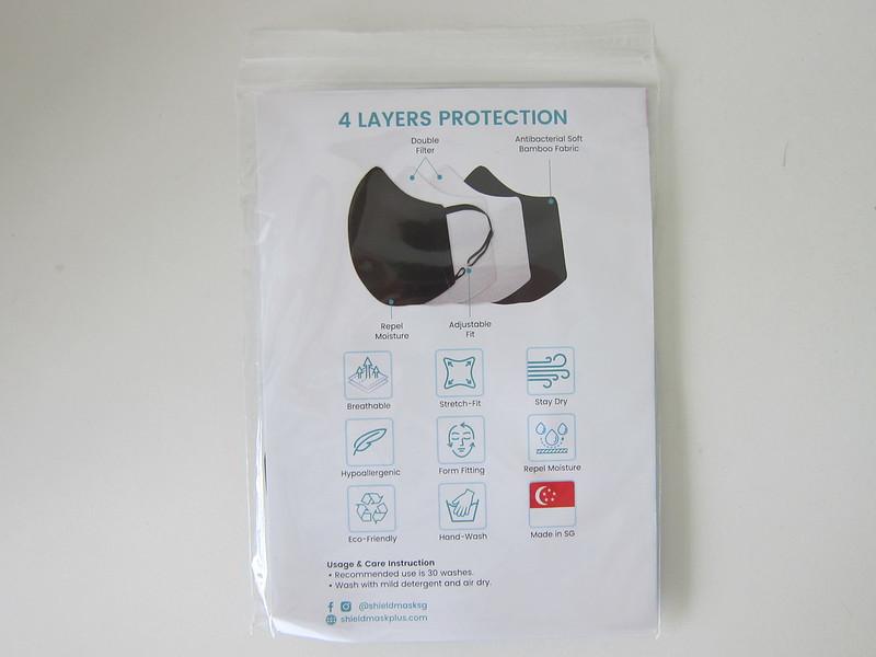ShieldMask+ Reusable Mask - Packaging Back