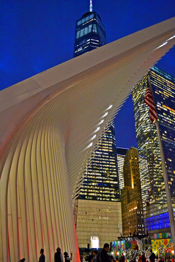 The Oculus & Freedom Tower One 1 WTC World Trade Center Lower Manhattan New York City NY P00561 DSC_0083