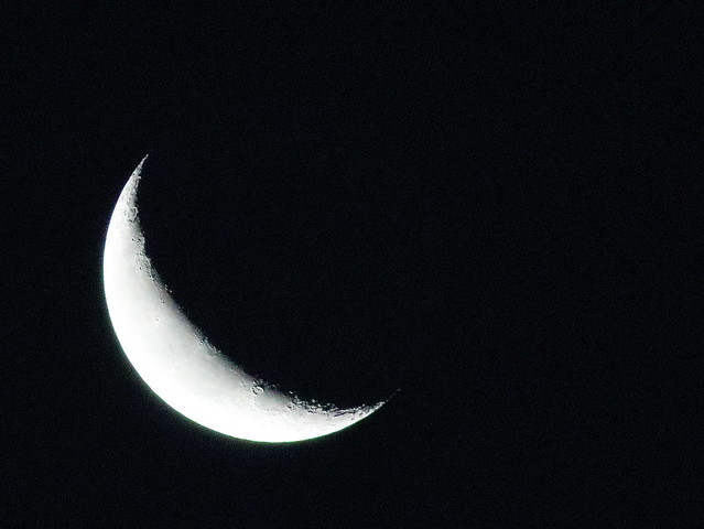 Strawberry Moon waning crescent 20200616