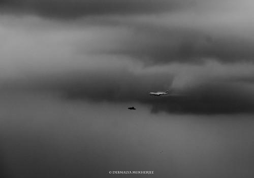 debmalyamukherjee canon550d 18135 mumbai boeing boeing747 clouds cloudscape monsoon windowview aeroplane