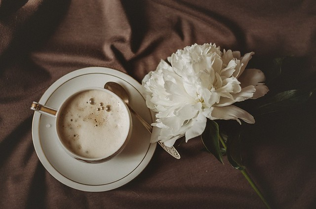 Coffee and peony