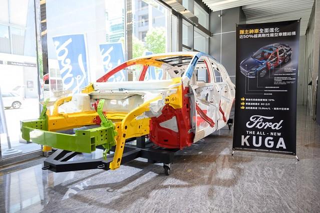 【圖四】The All-New Ford Kuga車身結構以近 50% 超高剛性鋼材布局打造,使車身抗扭曲強度提升10%,並兼具輕量化之特性,也帶來更優異的安全性