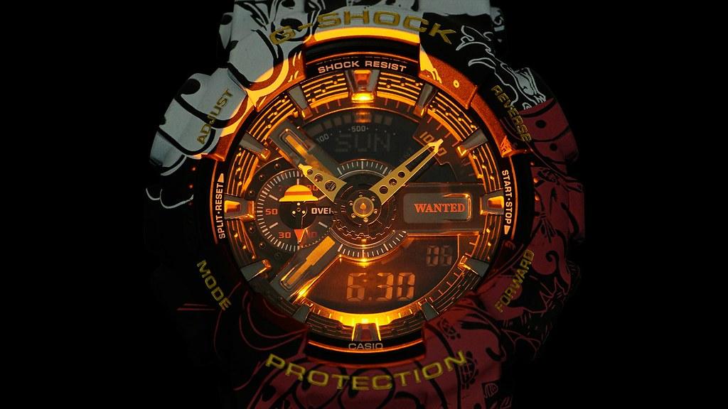 G-SHOCK ×《ONE PIECE》聯名手錶【GA-110JOP-1A4JR】發表~ 濃縮魯夫的戰鬥軌跡,二檔到四檔的進化超熱血注入!!