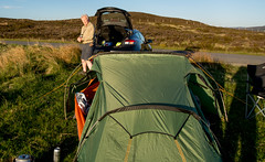 Camp up in the moorland