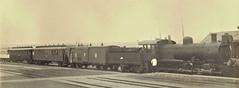 Africa Railways - Angola - Caminho de Ferro de Benguela (Benguela Railway) - CFB 4-8-0 steam locomotive Nr. 130 and passenger train