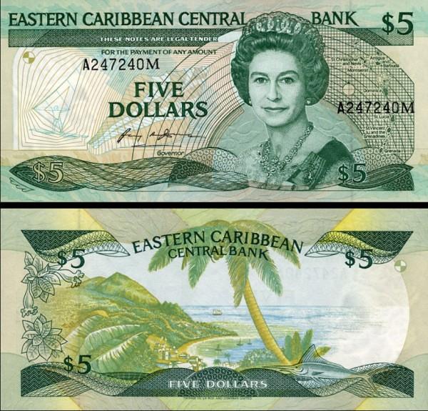 5 Dolárov Montserrat 1986-88, P18m