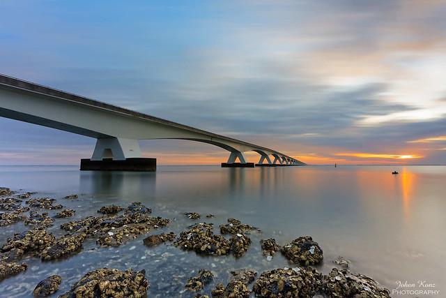 Sunrise Zeeland Bridge