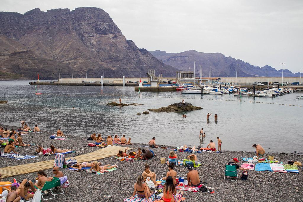 Playa y Puerto de las Nieves en Agaete en Gran Canaria