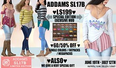 💥Starting July 19th - Addams at SL17B - Up to 60% OFF + Special Gift !!!💥