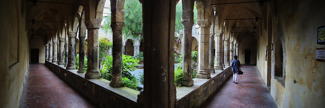 Photo opportunity in every corner at 13th century St. Francis cloister