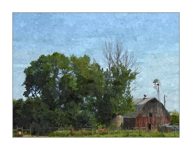 Windmill and Barn