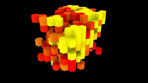 3D Hexagonal Cellular Automaton
