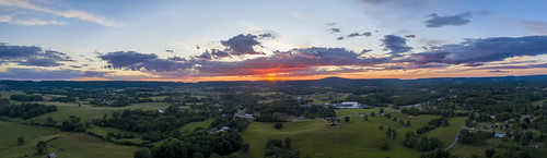 sunset residential agriculture aerial dji mavic pro2 clouds colors red skypanorama uppercumberland