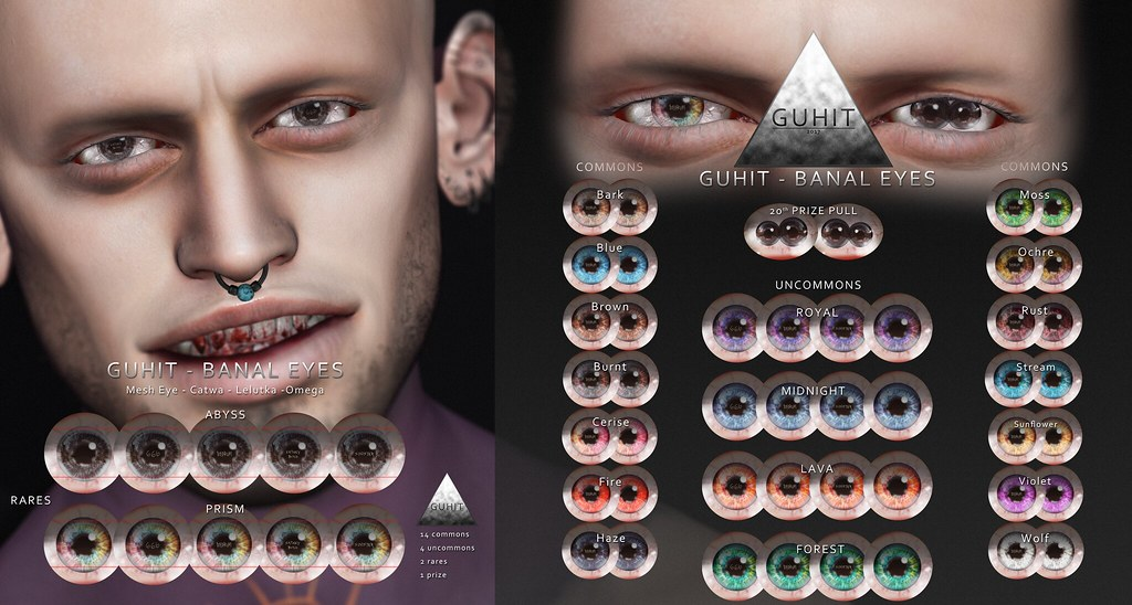 GUHIT – BANAL EYES GACHA SET @ Men only Monthly *GIVEAWAY*