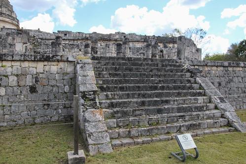 Steps leading to El Caracol, The snail, Chichen Itza, Mexico's Yucatán Peninsula