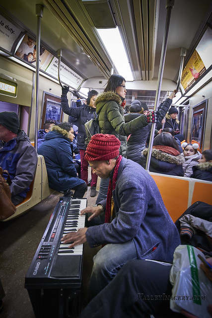 Busking on a train (NYC Pre Covid)