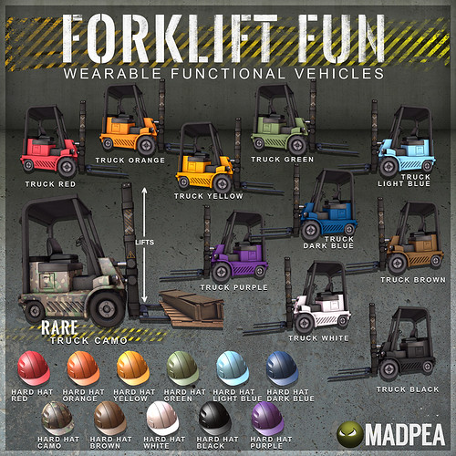 MadPea Forklift Fun @Man Cave Event!