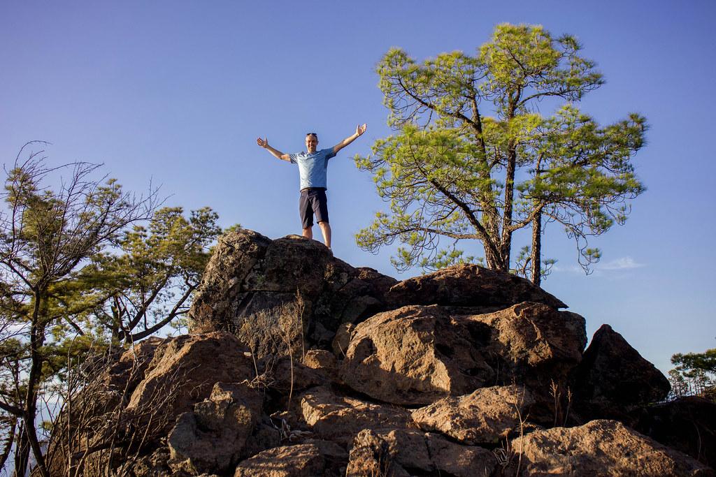 Punto más alto de la montaña Altavista en Artenara