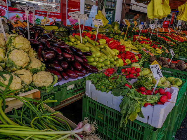 Vegetables at the open market.