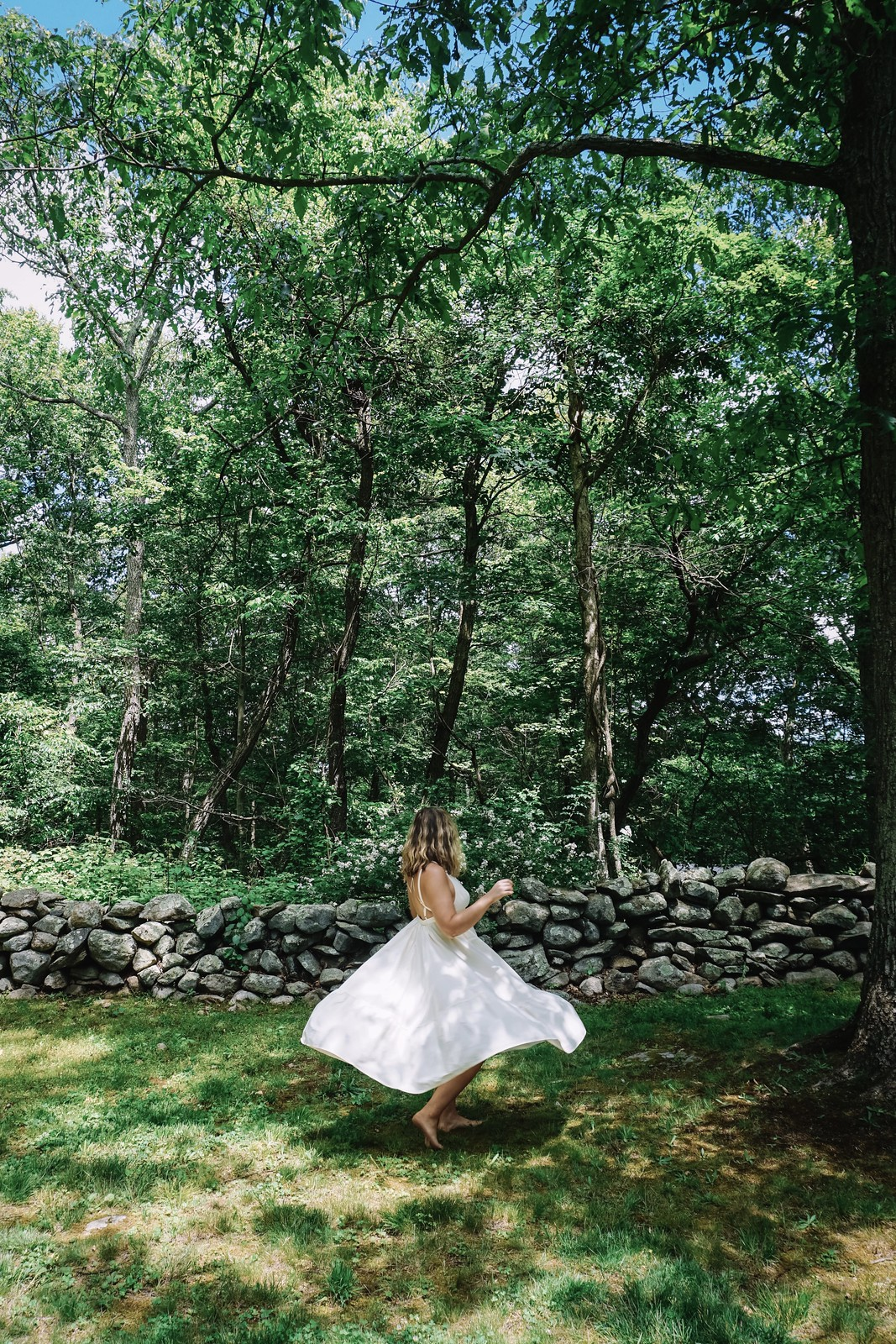 Forest Fairy | Urban Outfitters White Midi Dress Twirling | Country Girl Summer | The Best Little White Dresses Under $50 for Summer | Summer Outfit Ideas | LWD Little White Dress | Casual Outfit Inspiration