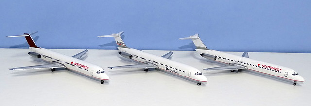 Republic & Northwest Airlines Douglas DC-9-51s