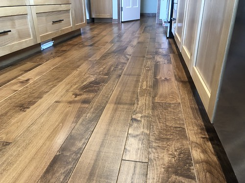 Custom tinted maple install | by Woodlandflooring