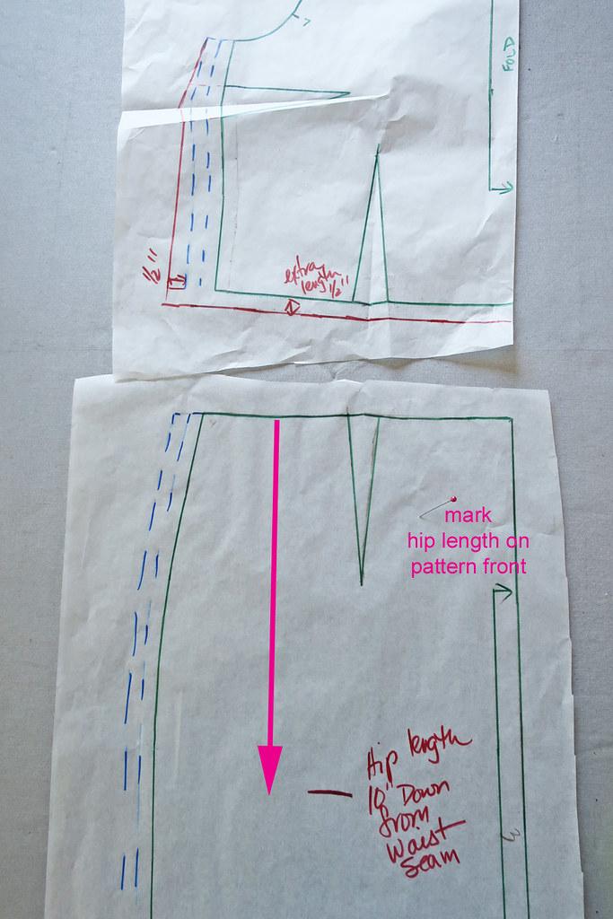 Burda mark hip length