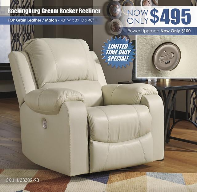 Rackingburg Cream Recliner_U33302-98_Update