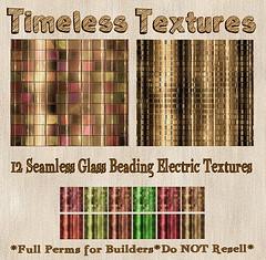 TT 12 Seamless Glass Beading Electric Timeless Textures
