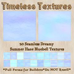 TT 20 Seamless Dreamy Summer Haze Bluebell Timeless Textures