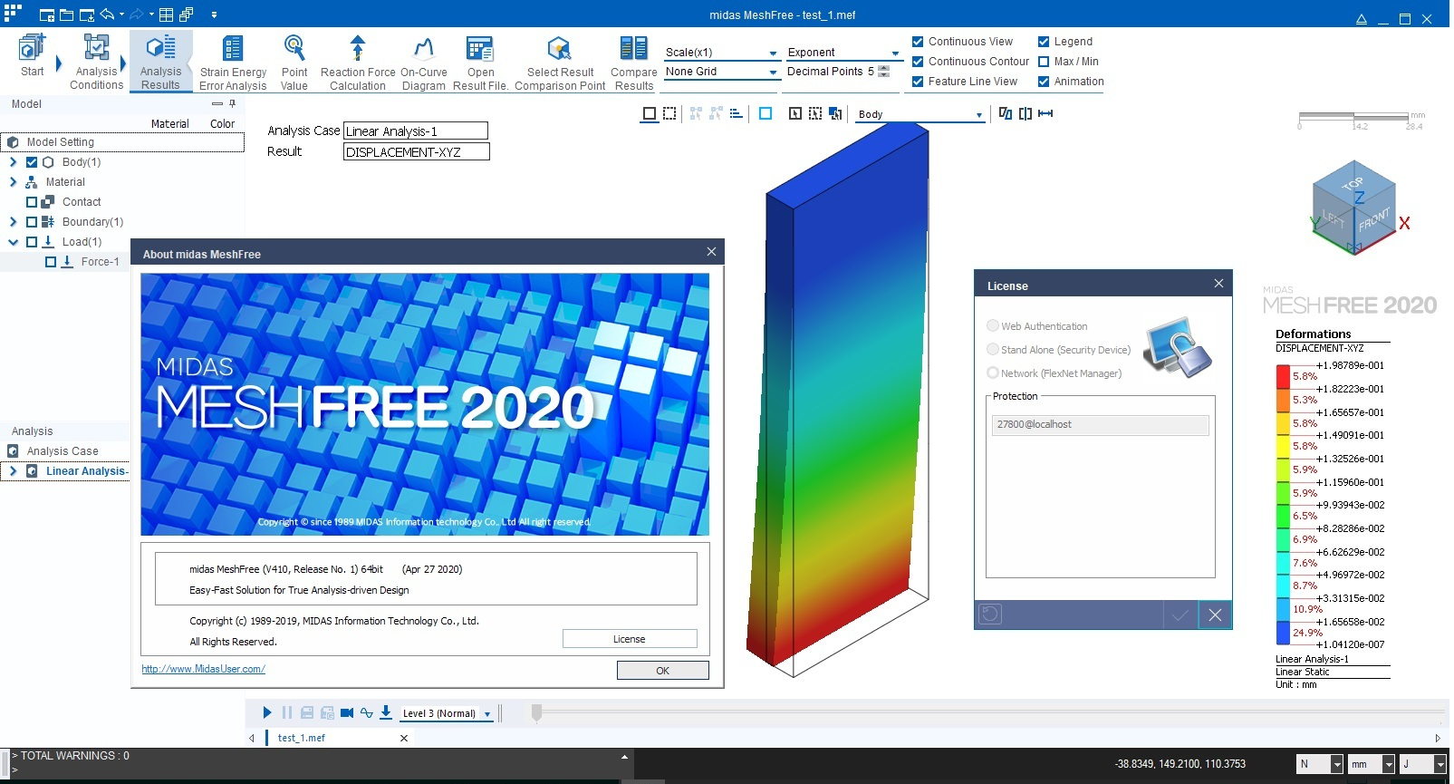 Working with midas MeshFree 2020 R1 full license