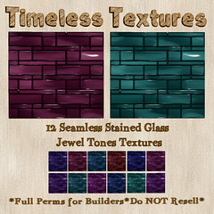 TT 12 Seamless Stained Glass Jewel Tones Timeless Textures