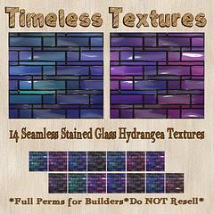 TT 14 Seamless Stained Glass Hydrangea Timeless Textures