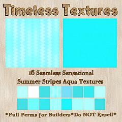 TT 16 Seamless Sensational Summer Stripes Aqua Timeless Textures