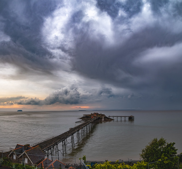 Storm passed over Birnbeck PierDSCF0004