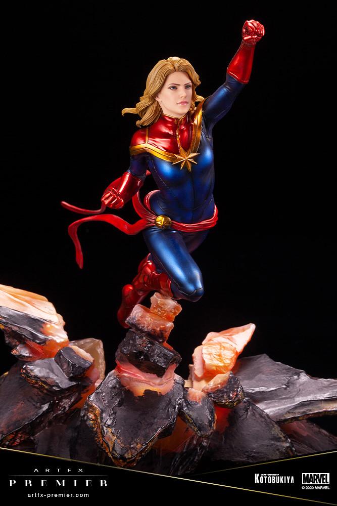 不只是戰鬥力,美麗與性感也是「最強」! 壽屋 ARTFX PREMIER 系列 Marvel Universe【驚奇隊長】キャプテン・マーベル 1/10 比例 PVC塗裝完成品