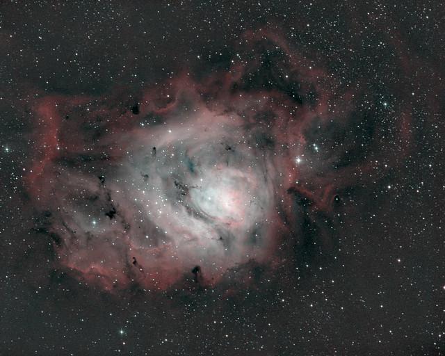 The Lagoon Nebula (M8) in bi-color narrowband