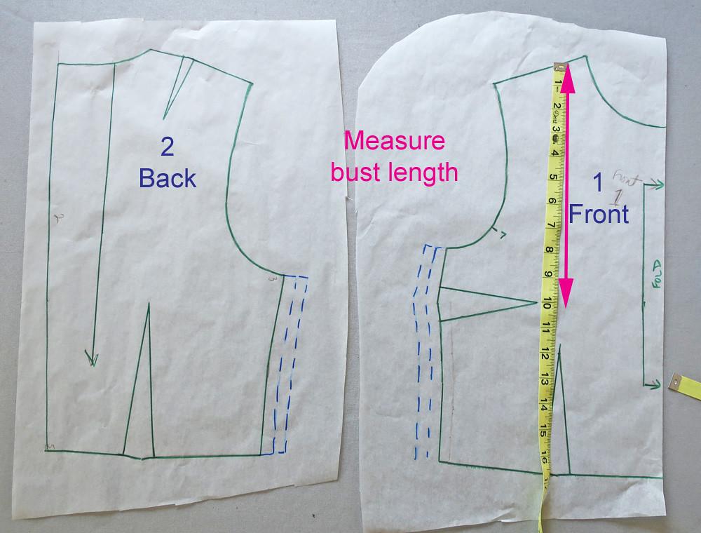 Burda pattern measure bust length