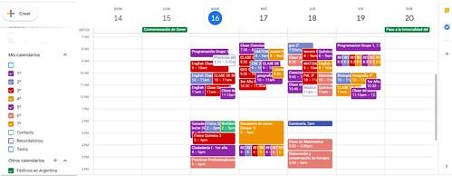 Cronograma de clases en MEET y entrega de trabajos de alumnos del IASJO en la semana del 16 al 19 de junio del 2020