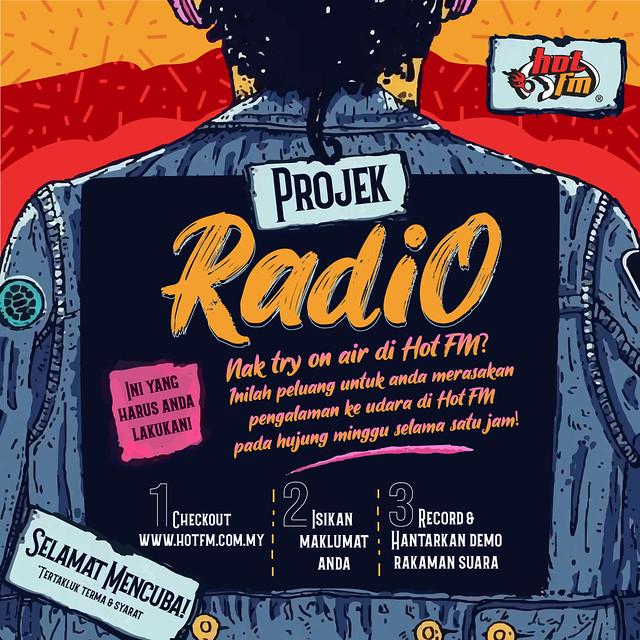 Poster Projek Radio Hot Fm