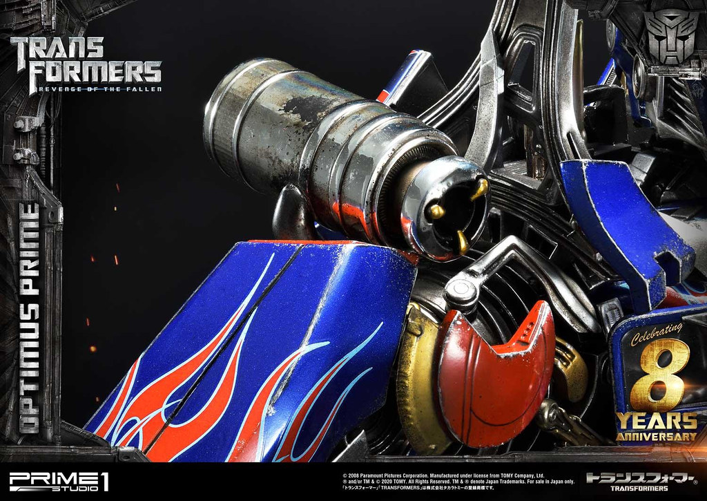 奮戰不懈的「至尊」挺立! Prime 1 Studio《變形金剛:復仇之戰》柯博文(オプティマスプライム)MMTFM-28 無比例全身雕像 普通版、EX Bonus版、EX 日本/中國版